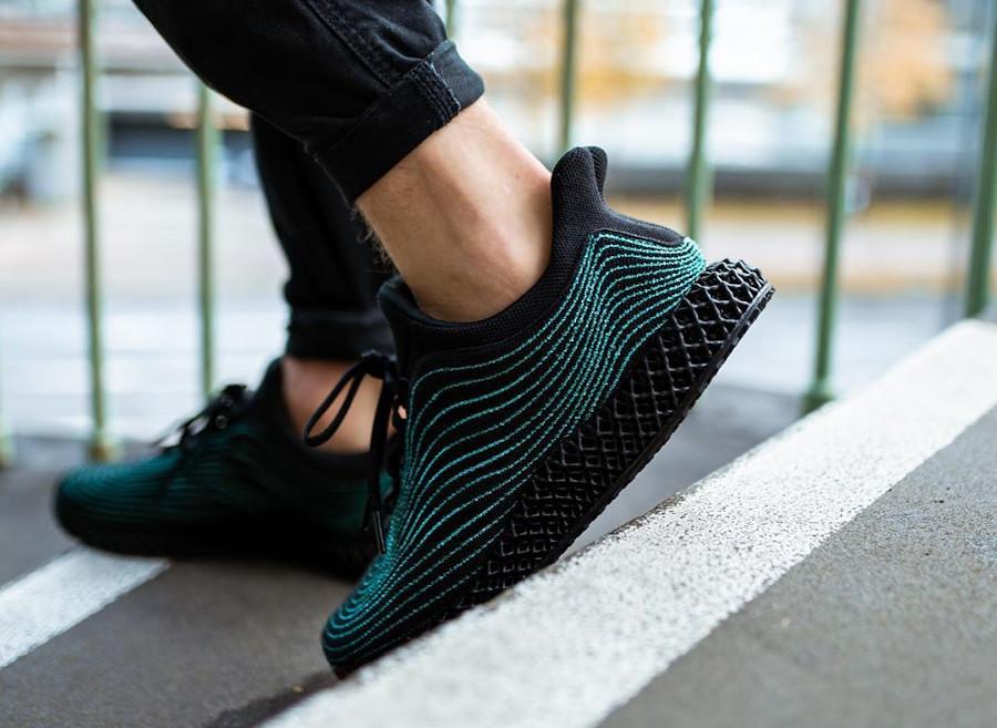 Adidas Ultra Boost en Primeknit recyclé noir (semelle imprimée en 3D) (4)