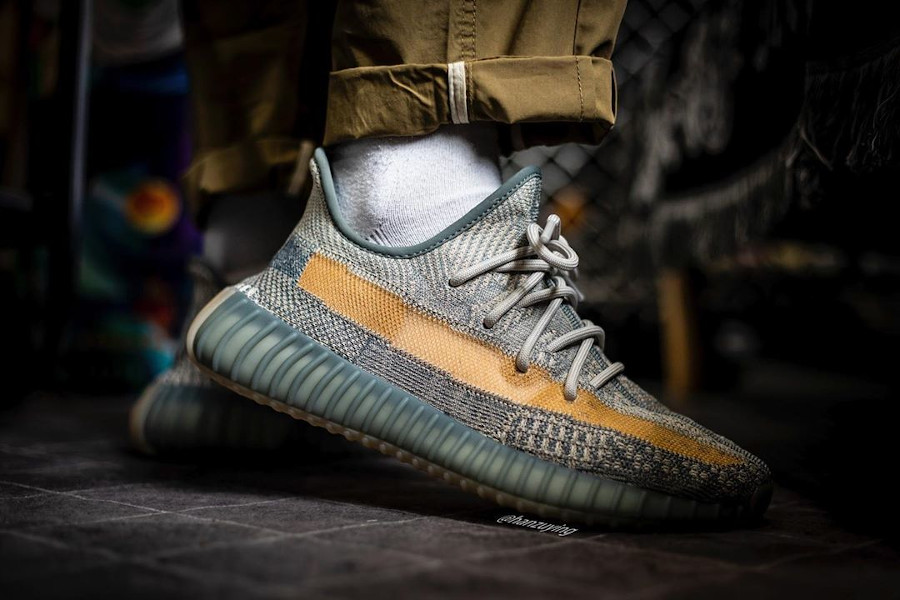 Adidas Yeezyboost 350 2020 grise et sable (1)