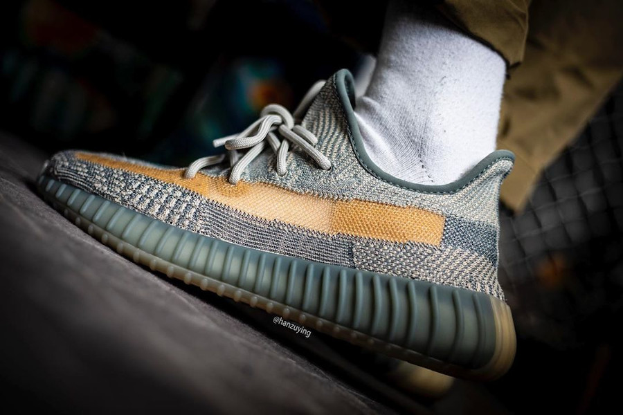 Adidas Yeezyboost 350 2020 grise et sable (2)