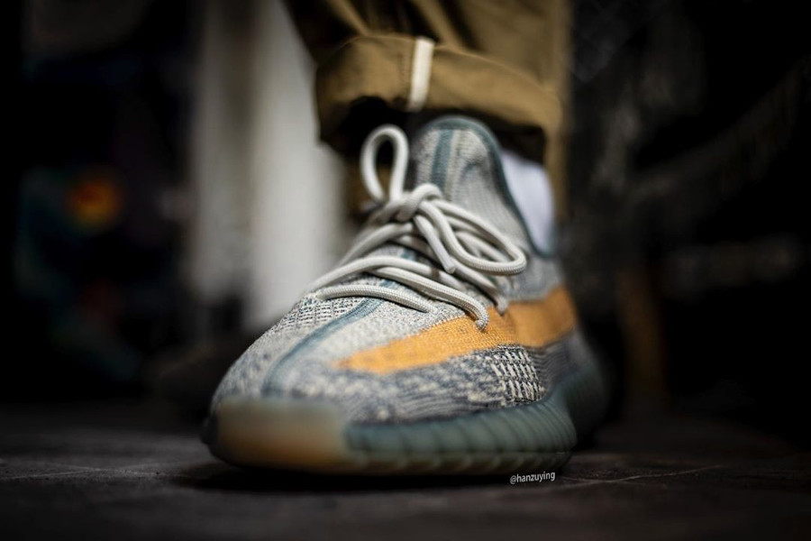 Adidas Yeezyboost 350 2020 grise et sable (4)