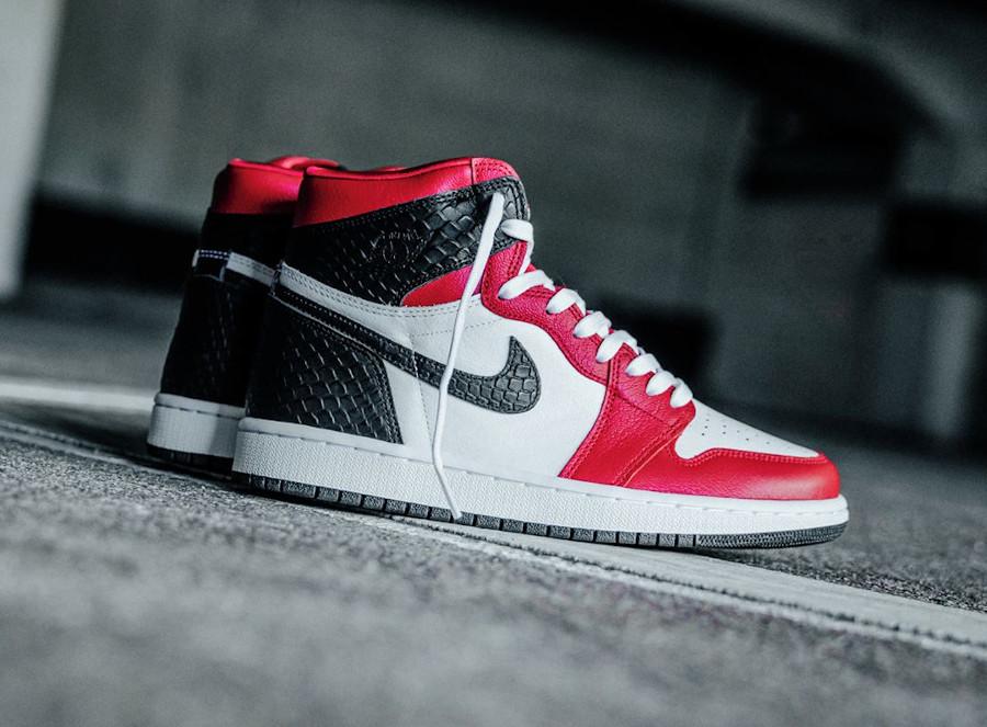 Air Jordan 1 High OG Snakeskin Satin Red CD0461-601