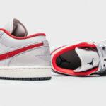 Air Jordan 1 Low Premium 'Night Track' Metallic Silver Red