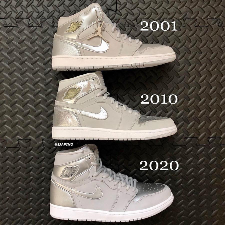 Air Jordan 1 Tokyo 2001 2010 2020