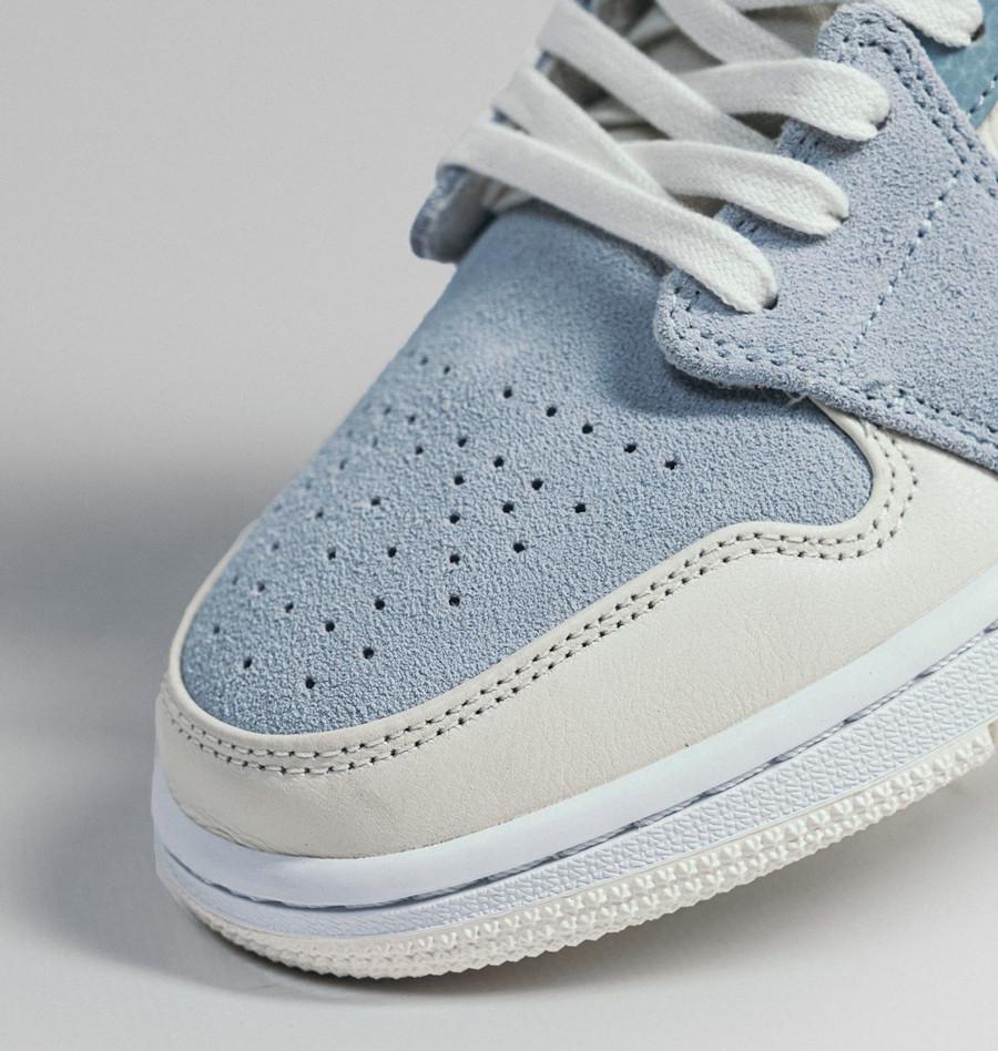 Air Jordan 1 mi-montante 2020 bleu pastel et crème (1)