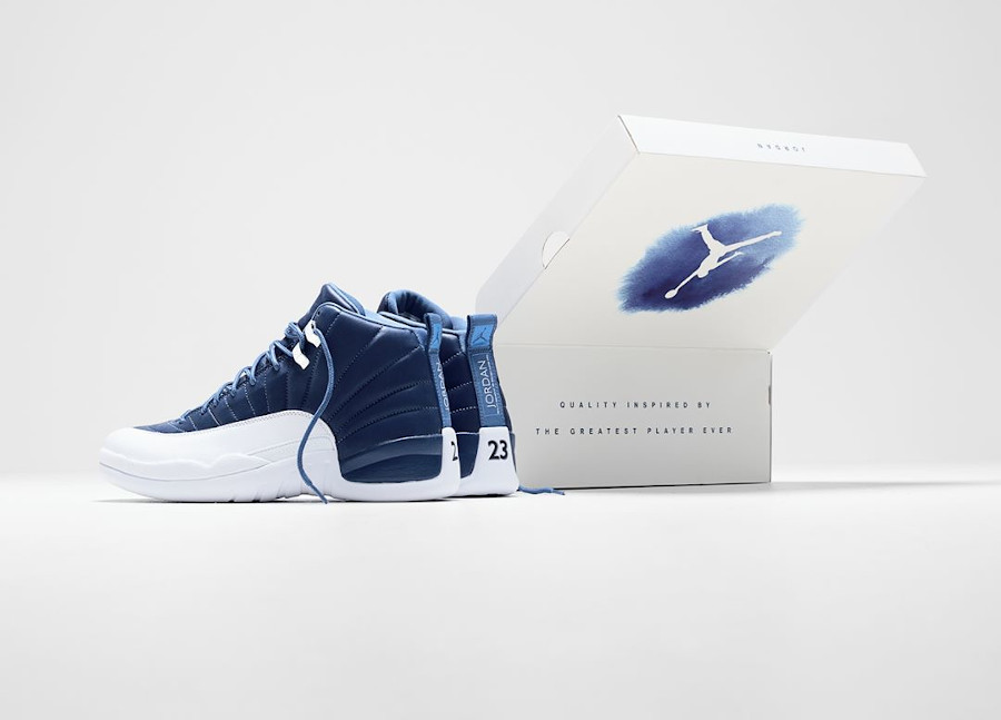 Air Jordan 12 Retro Indigo Stone Blue