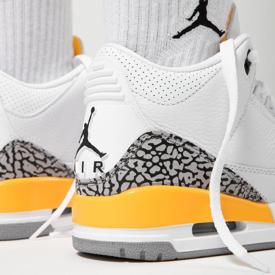 Air Jordan III femme 2020 blanche et jaune (1)