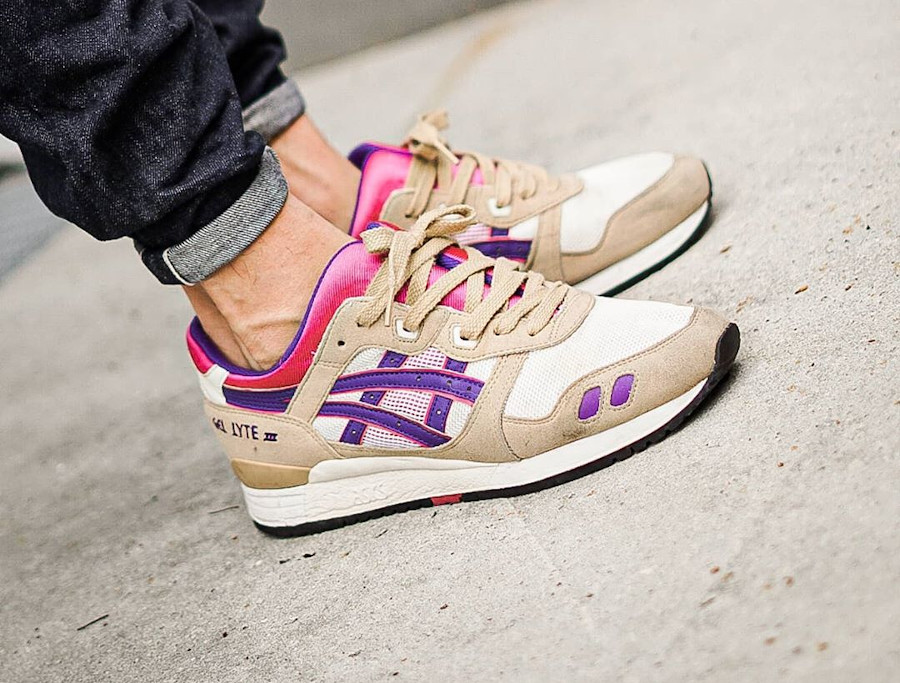 Asics Gel Lyte 3 Cream Purple - @airmaxbichler