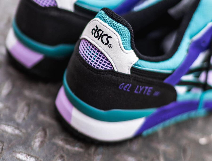 Asics Sportstyle Gel Lyte III 2020 blanche violet et turquoise (1)