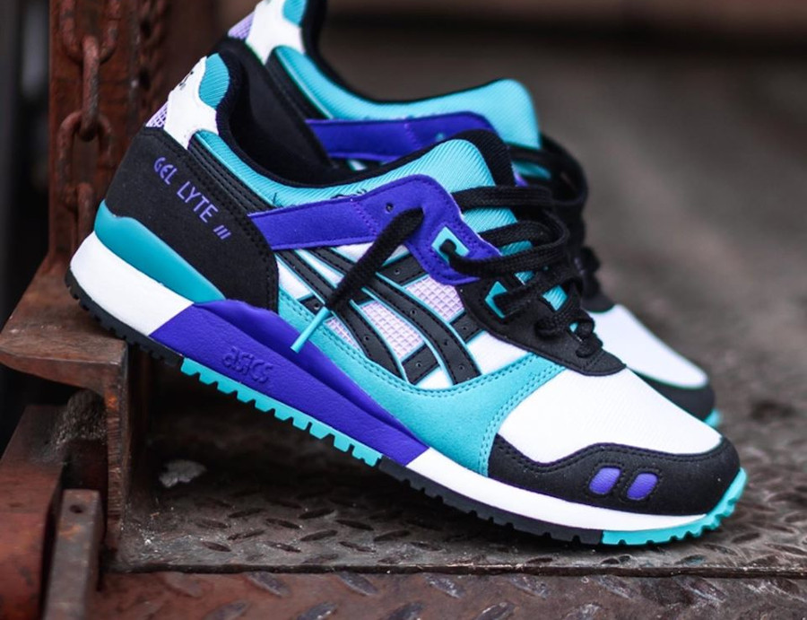 Asics Sportstyle Gel Lyte III 2020 blanche violet et turquoise (2)