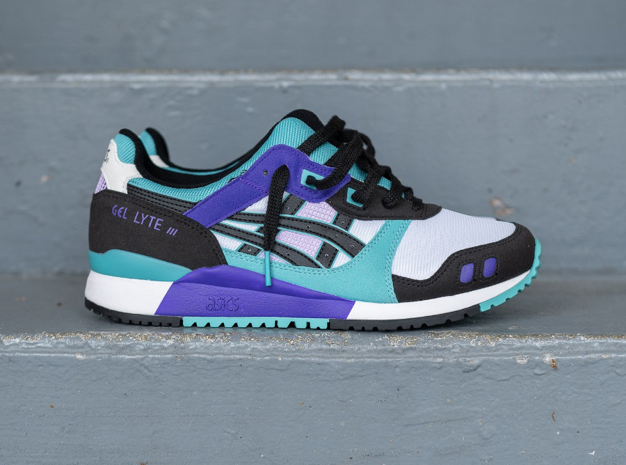 Asics Sportstyle Gel Lyte III 2020 blanche violet et turquoise (3)