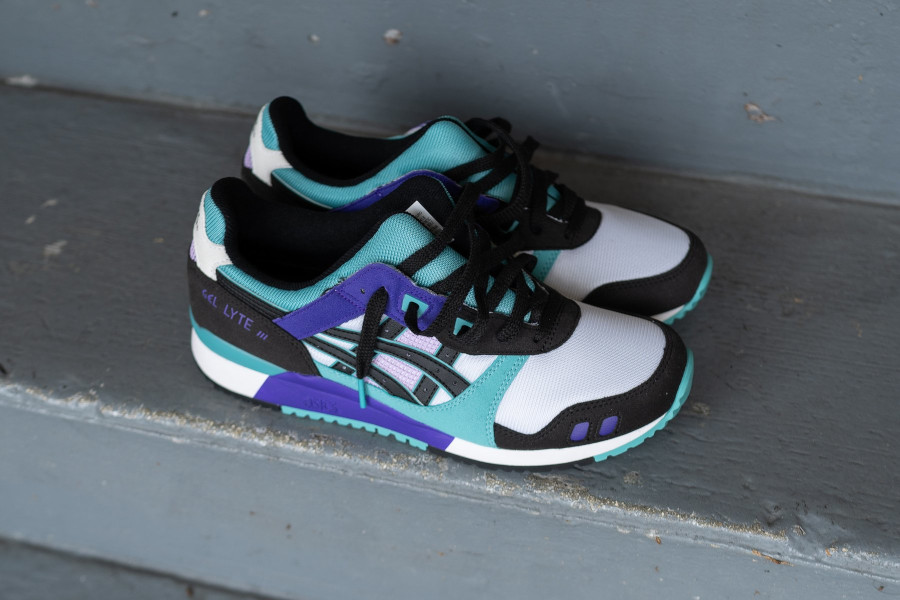 Asics Sportstyle Gel Lyte III 2020 blanche violet et turquoise (4)