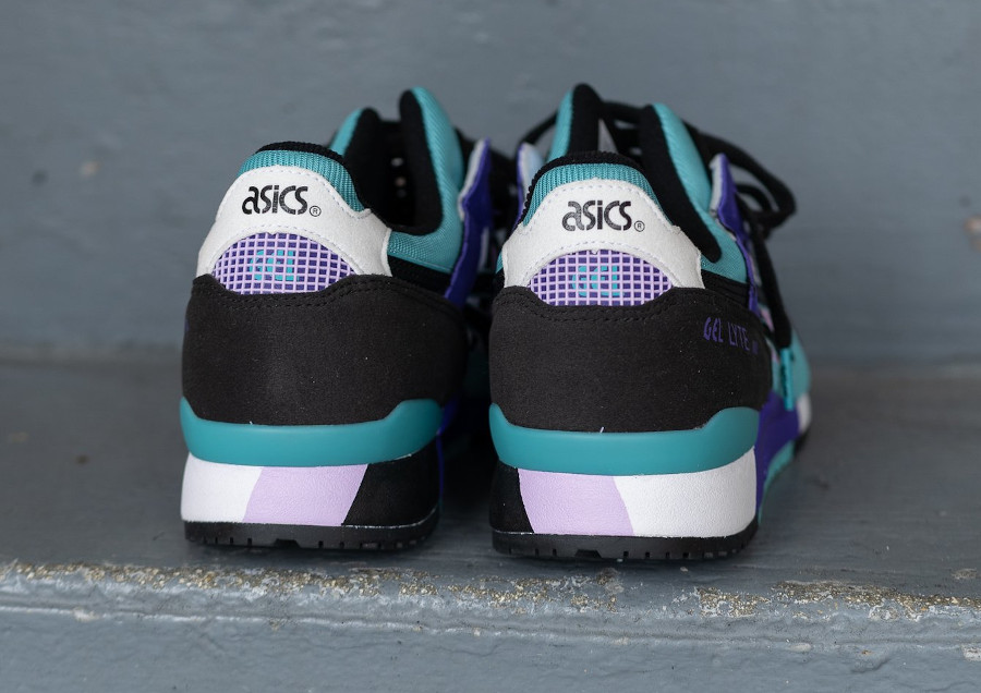 Asics Sportstyle Gel Lyte III 2020 blanche violet et turquoise (5)