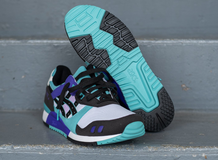 Asics Sportstyle Gel Lyte III 2020 blanche violet et turquoise (6)