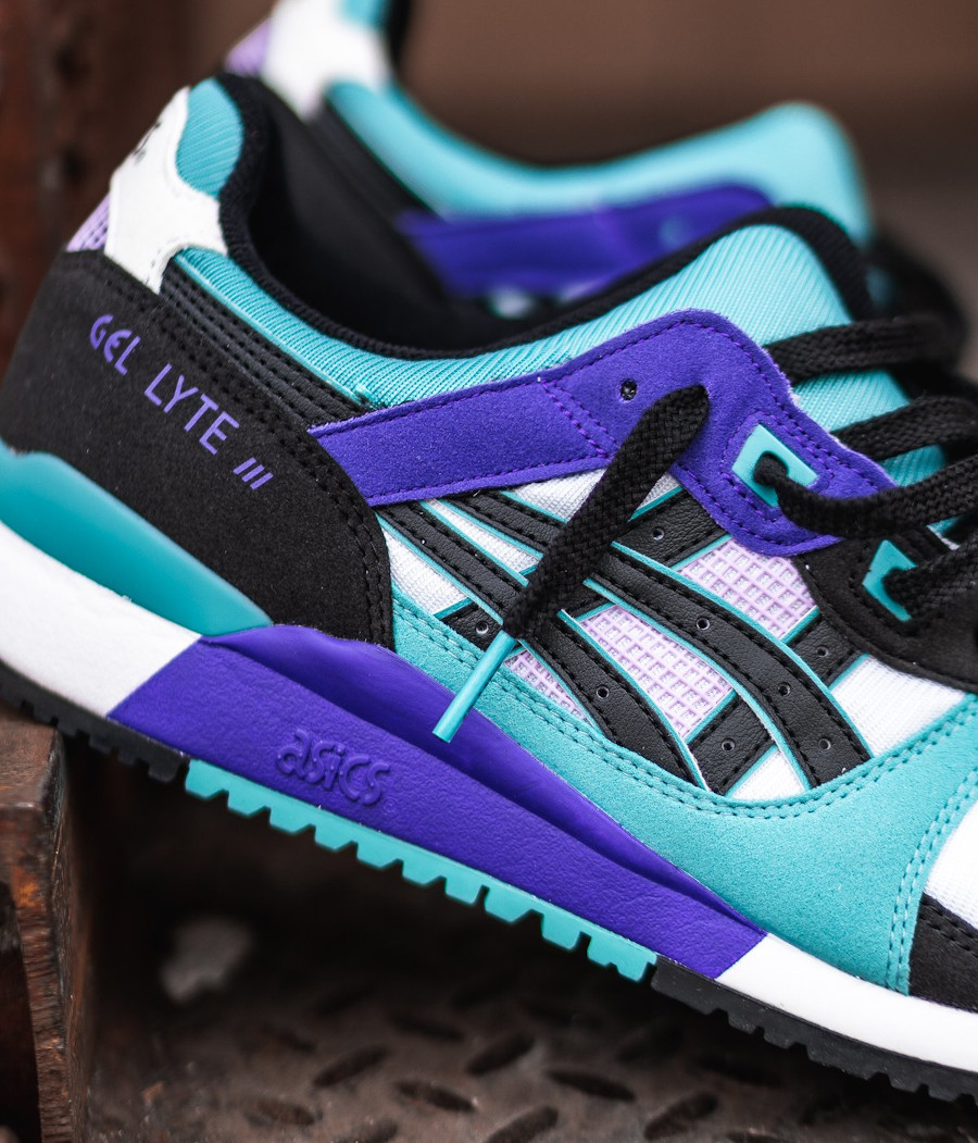 Asics Sportstyle Gel Lyte III 2020 blanche violet et turquoise (7)