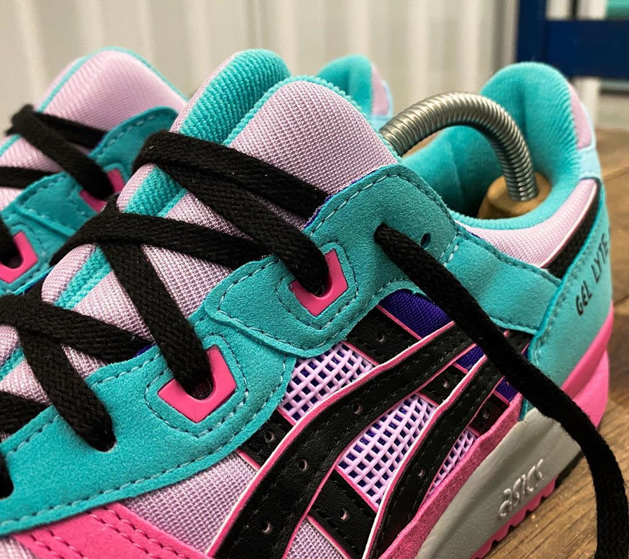 Asics Sportstyle Gel Lyte III 2020 turquoise violet et rose (3)