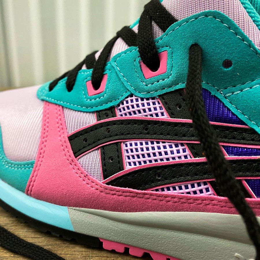 Asics Sportstyle Gel Lyte III 2020 turquoise violet et rose (4)