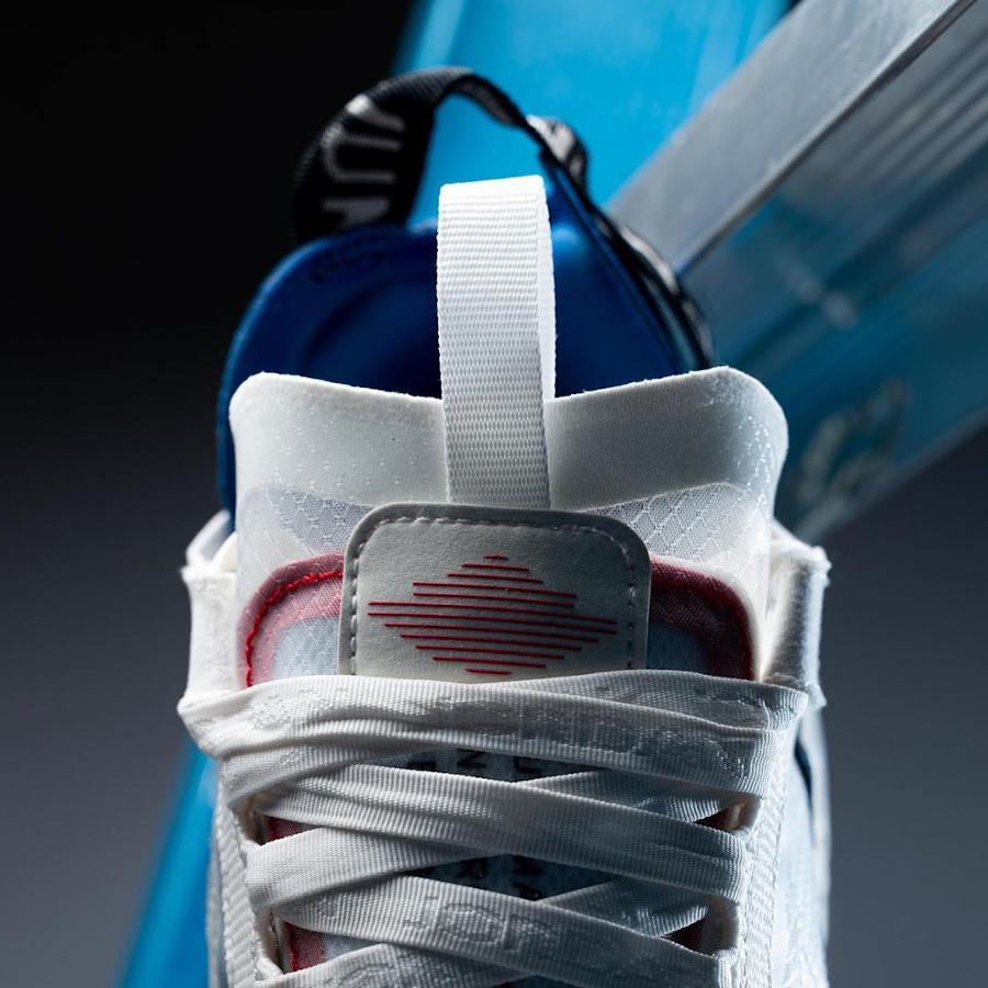 Jordan Delta BR transparente blanche bleu et rouge (6)