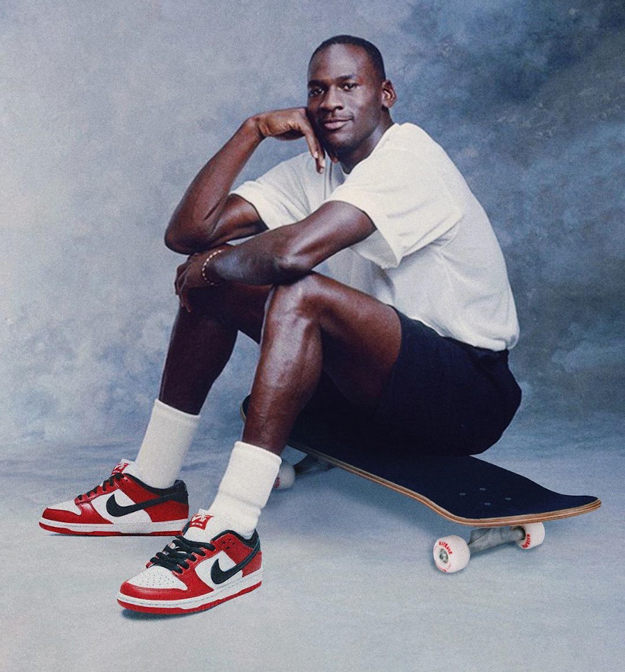 Michael Jordan en Nike SB Dunk Low AJ1 OG 1985