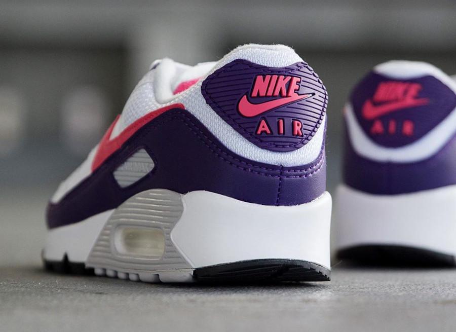 Nike Air Max 90 30th femme violet aubergine blanche et rose (1)