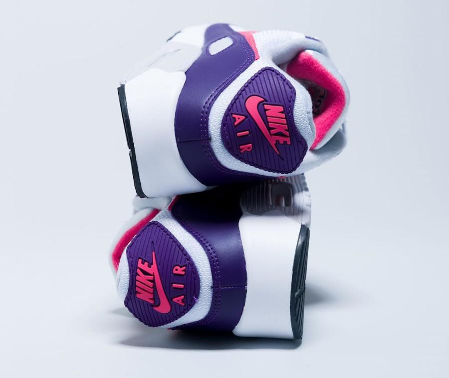 Nike Air Max 90 30th femme violet aubergine blanche et rose (5)