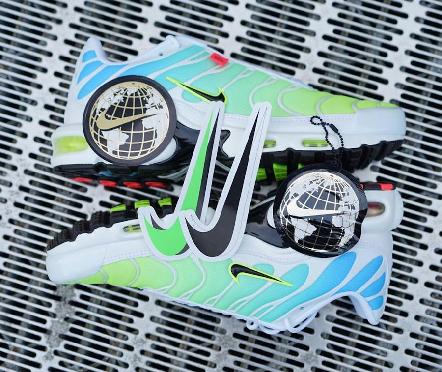Nike Air Tuned 1 2020 bleu vert fluo (1)