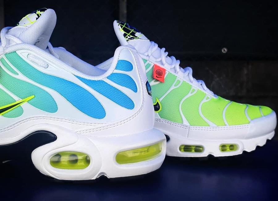 Nike Air Tuned 1 2020 bleu vert fluo (3)