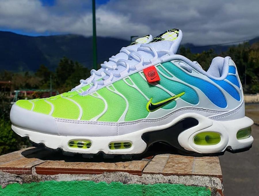 Nike Air Tuned 1 2020 bleu vert fluo (5)