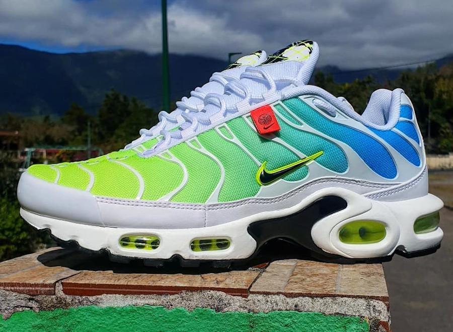 Nike Air Tuned 1 2020 bleu vert fluo (7)