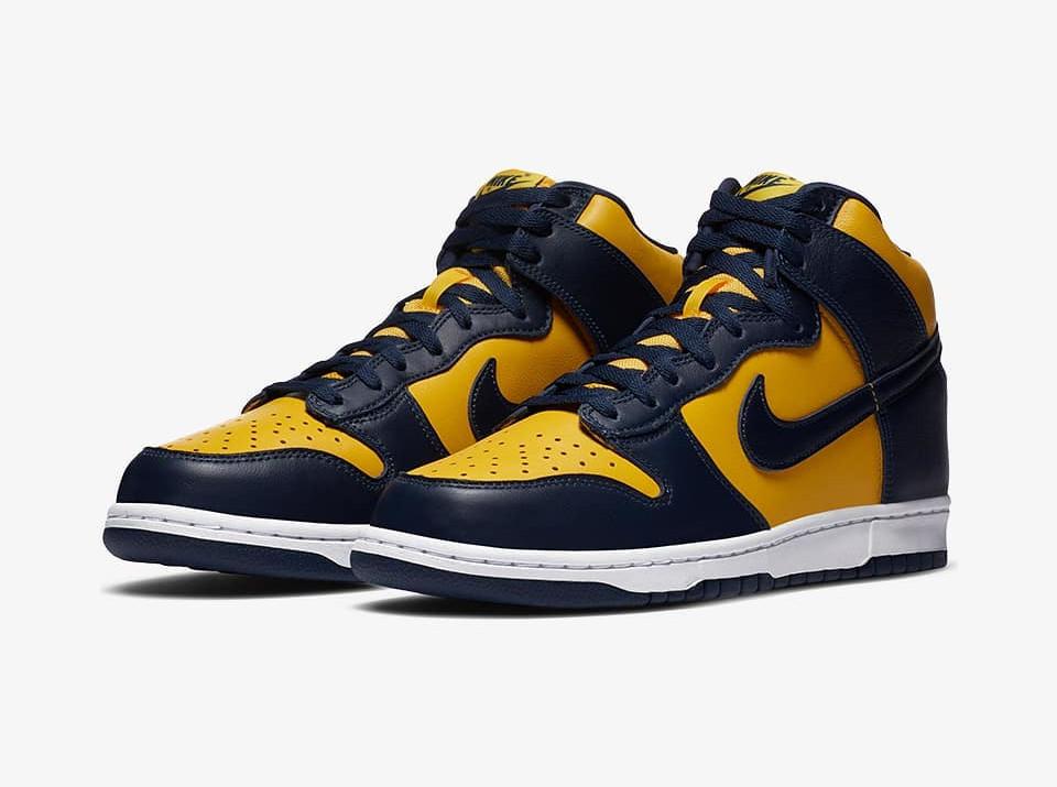 Nike Dunk High SP Michigan date de sortie