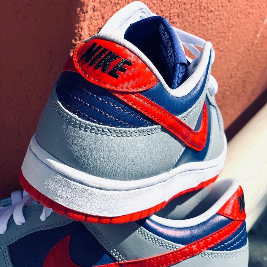 Nike Dunk Low Co.JP gris bleu irisé et rouge (1)