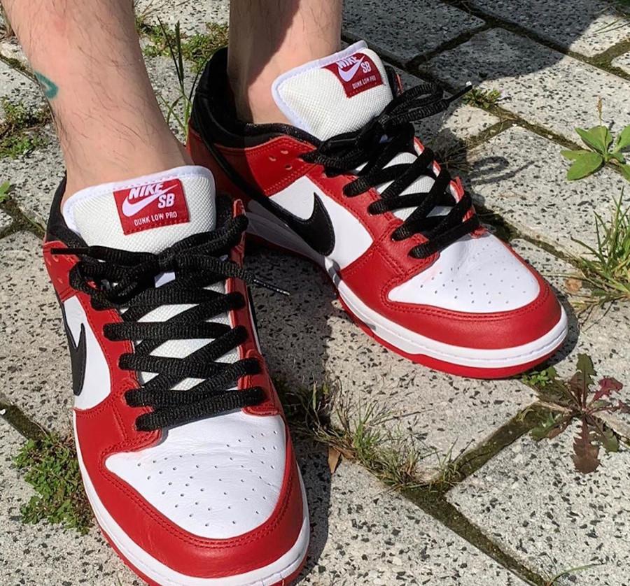 Nike Dunk Low Pro SB rouge blanche et noire (2)