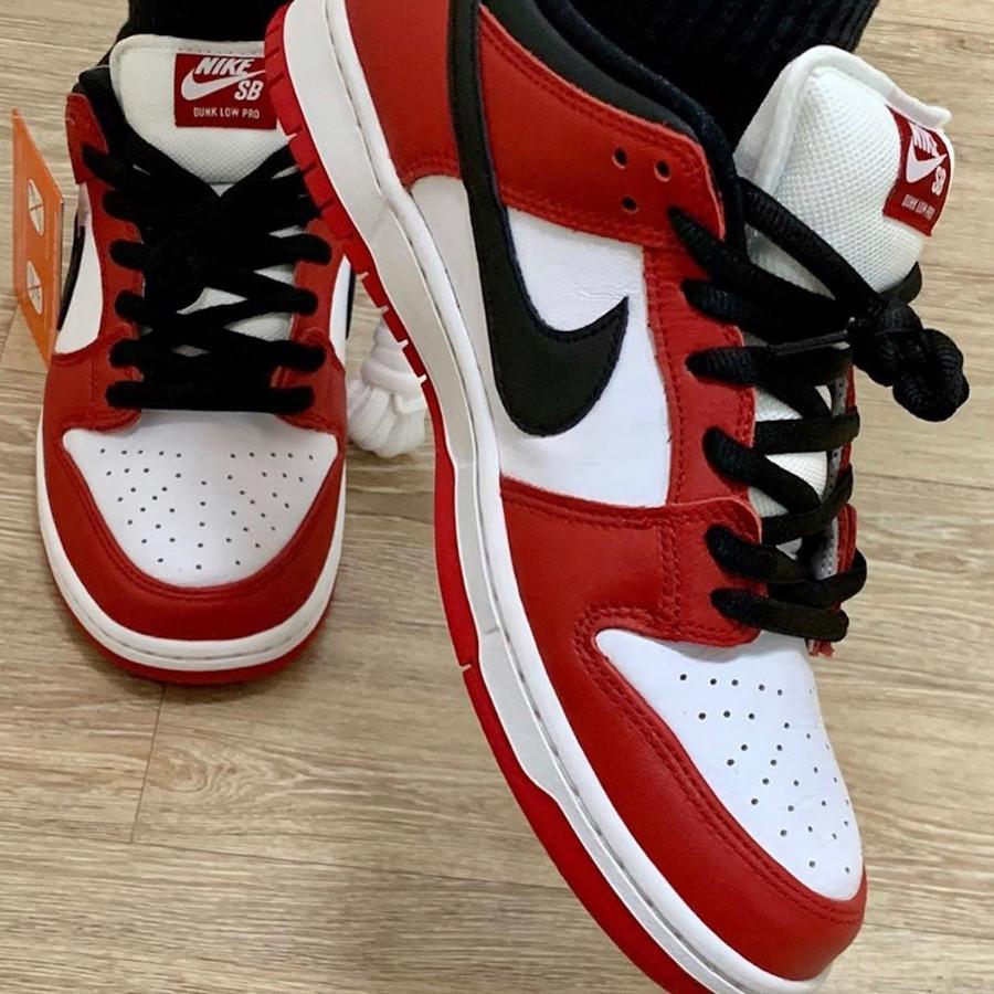 Nike Dunk Low Pro SB rouge blanche et noire (4)
