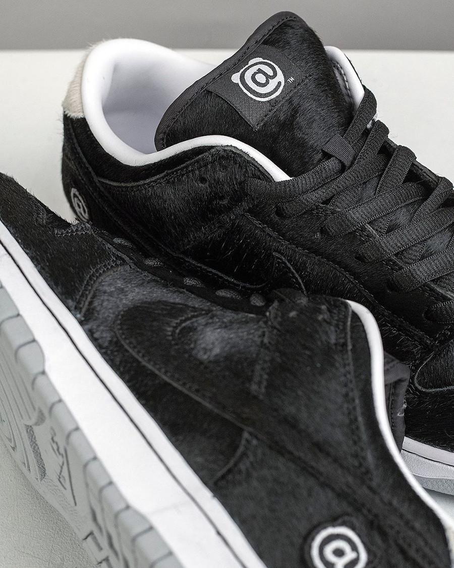 Nike Dunk Low SB en pony hair noir (1)