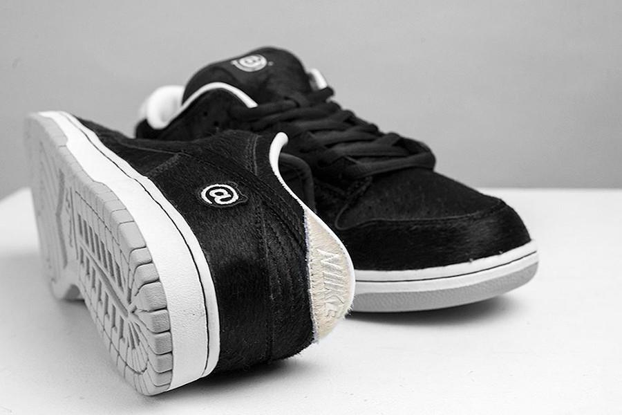 Nike Dunk Low SB en pony hair noir (3)