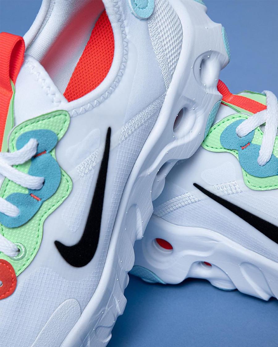 Nike React Artemis blanche rouge verte et bleu pour femme (5)