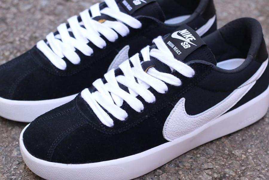 Nike React Bruin SB noire et blanche (2)