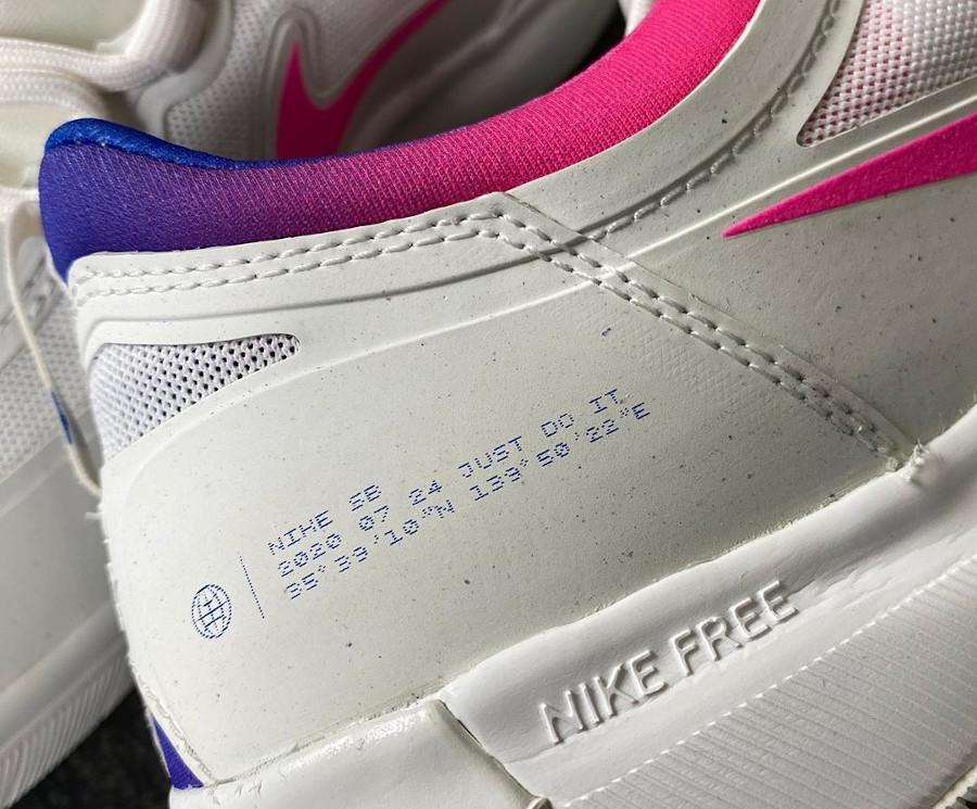 Nike SB Nyjah Free 2 blanche bleu et rose (7)