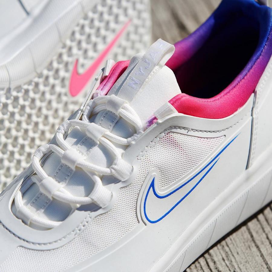 Nike SB Nyjah Free 2 blanche bleu et rose (8)
