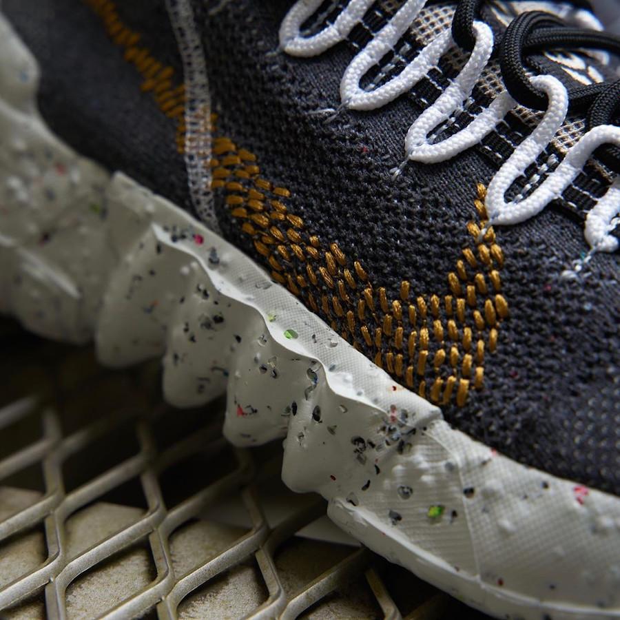 Nike Space Hippie 01 en déchets recyclés gris et marron (2)