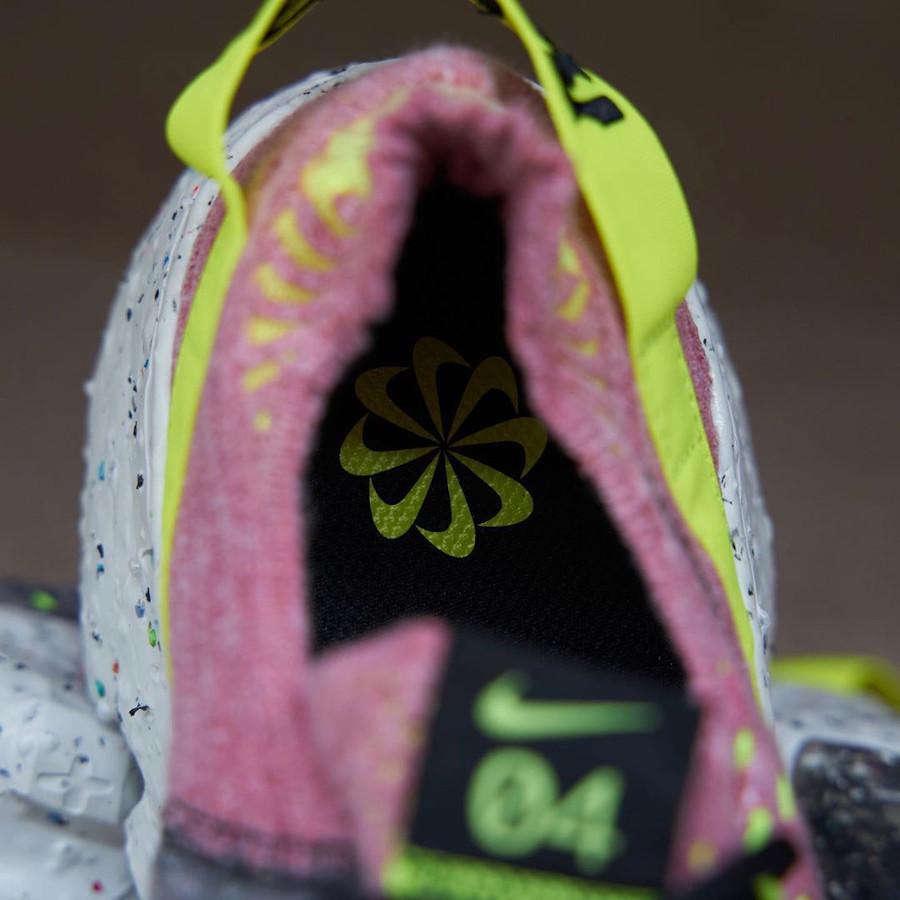Nike Space Hippie 04 rose grise et jaune fluo (5)