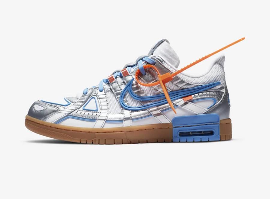 Off White x Nike Rubber Dunk University Blue date de sortie