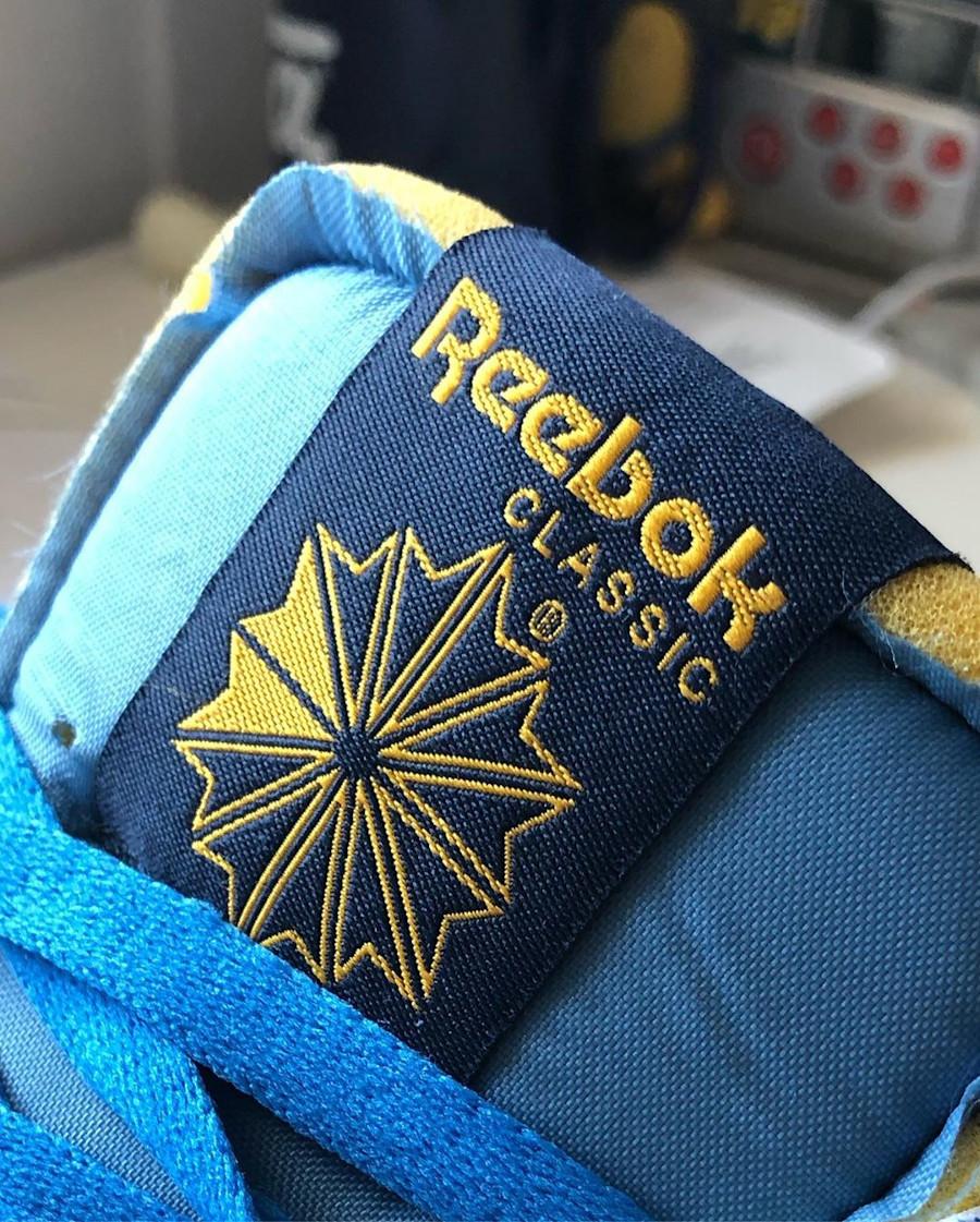Reebok CL Legacy deconstruct bleu jaune et rouge (5)