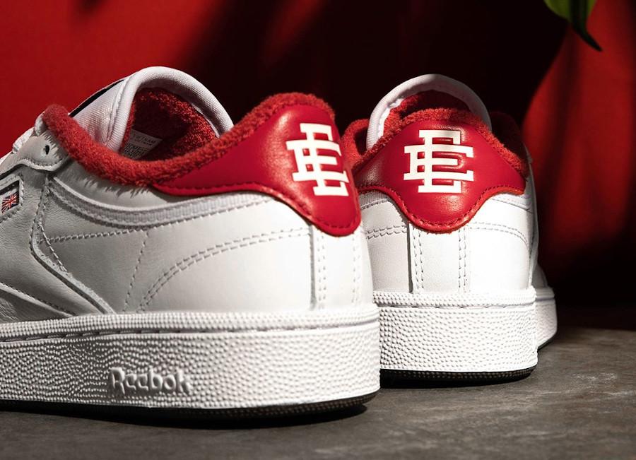 Reebok Club C 85 blanche et rouge FY3412 (1)