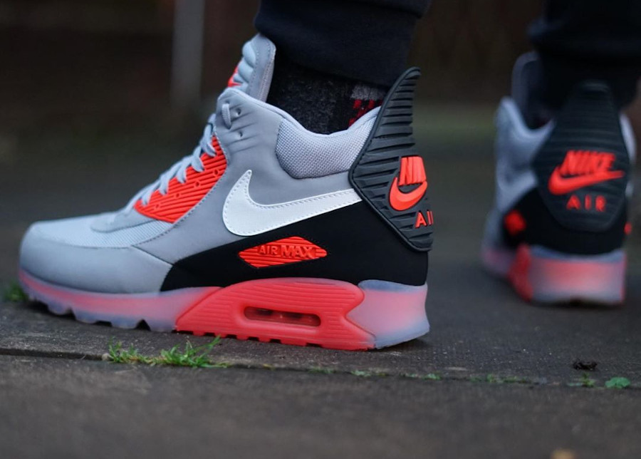 2014 - Nike Air Max 90 Ice Sneakerboot Infrared Wolf Grey - @hlgm12
