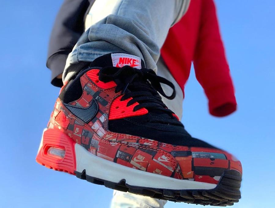 2018 - Atmos x Nike Air Max 90 Shoebox We Love Nike - @ su_3_gram