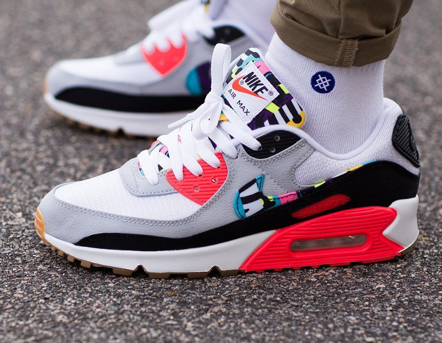 2020 - Nike Air Max 90 By You Time Wrape Infrared - @darren raw