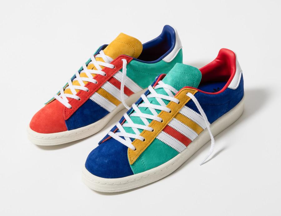 Adidas-Campus-80s-jaune-vert-bleu-blanche-et-orange-3