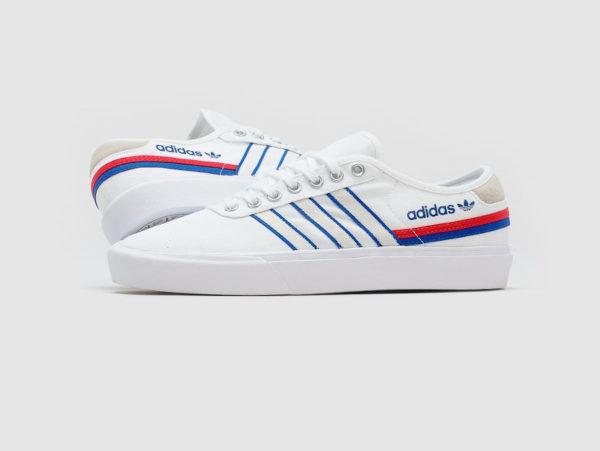 Adidas Delpala White Scarlet Blue FV0639