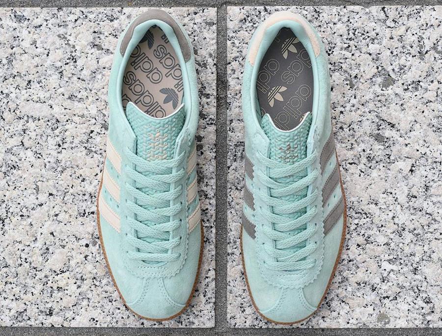 Adidas Padiham 2020 en daim vert menthe (2)