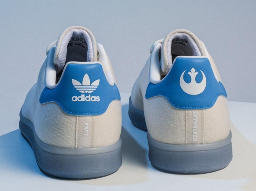 Adidas Stan Smith Luke Skywalker blanc cassé et bleue (1)